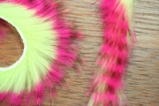 Кроличьи полоски Hareline Magnum Tiger Barred Strips Hot Pink/Brown/Chartreuse