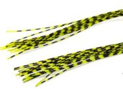 Резиновые ножки Hareline Grizzly Barred Rubber Legs Medium Fluo Chartreuse